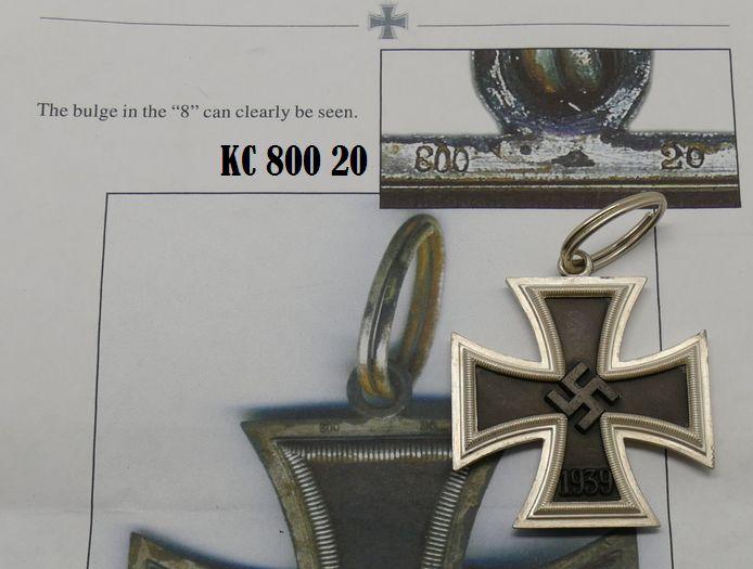 KNIGHTS CROSS ZIMMERMAN 800 20 MARKED