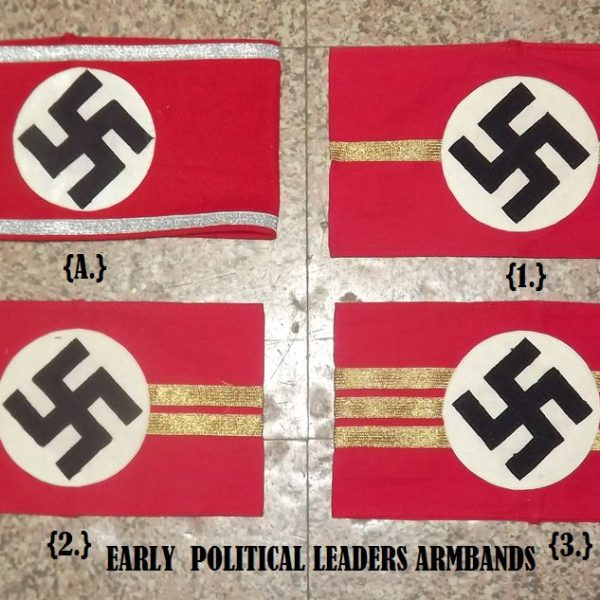 WAFFEN-SS ARMBAND ON WHITE COTTON – Military collectables